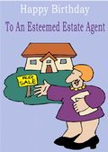 Estate Agent - Greeting Card